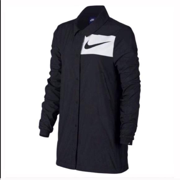 0d07e7e0164 Nike Jackets & Coats   Womens Sportswear Swoosh Snap Front Jacket ...